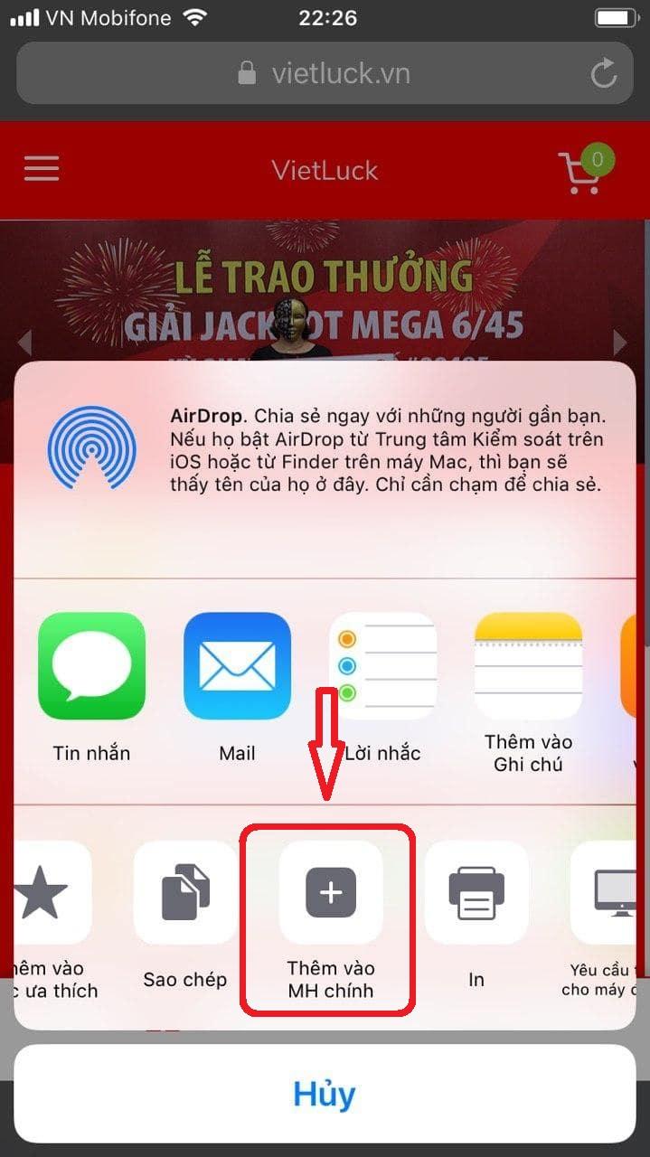 cai dat ung dung vietluck mua vietlott online tren iphone - ios (3)